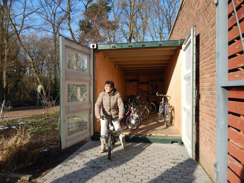 Neuer Fahrradcontainer